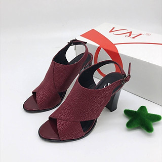 Giày Sandal Nữ quai đan chéo to bản thương hiệu VM: SD.155-9F