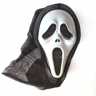 Mặt nạ sát nhân giấu mặt có vải chùm hóa trang Halloween