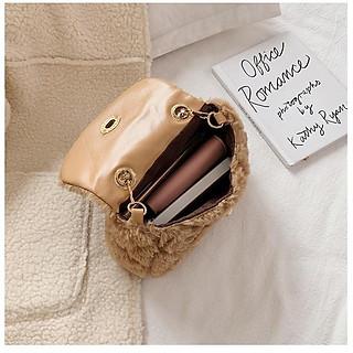 Túi Xách Nữ Đẹp (Túi Đeo Chéo) Thời Trang Cao Cấp Phối Lông Phong Cách Thu Đông - Mã XT005