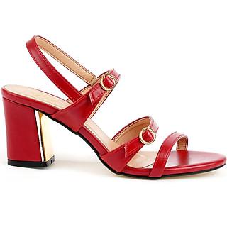 Giày sandal nữ cao gót 7CM, da Microfiber nhập khẩu cao cấp êm ái. Mũi tròn, gót trụ vững trãi, thiết kế hiện đại, tinh tế, thời trang: SD.V11.7F