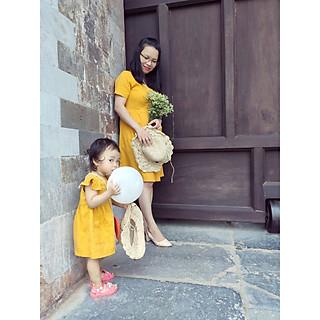 Đầm Mẹ Và Bé Nút Vàng (1 món)-SB04 Fashion cực chất