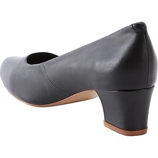 Giày Công Sở Nữ Da Thật Mũi Tròn Gót Trụ Royal Walk 5cm