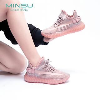 Giày Y350 Nữ Phản Quang MINSU M3711, Giày Thể Thao Sneaker Bata Nữ Hàn Quốc Phản Quang Cực Chất Mang Đi Chơi, Đi Học