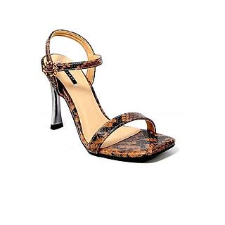 Giày Sandal Gót Nhọn Da Rắn Sulily SG1-IV20NAU màu nâu