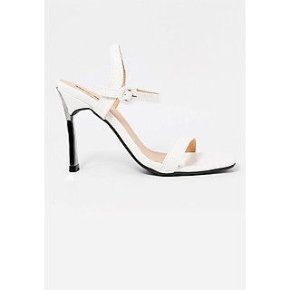 Giày Sandal Gót Nhọn Da Rắn Sulily SG1-IV20TRANG màu trắng