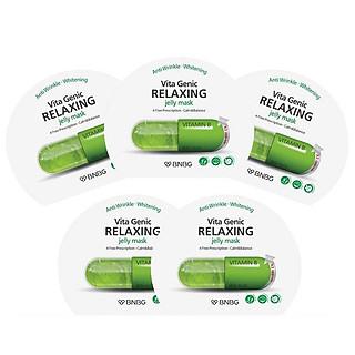 Combo 5 Mặt nạ dưỡng da giúp thư giãn và phục hồi làn da mệt mỏi BNBG Vita Genic Relaxing Jelly Mask (Vitamin B) 30ml x 5