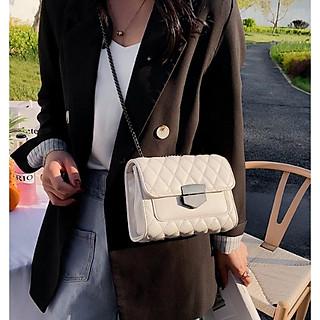 Túi đeo chéo nữ ️️ Túi trần trám khóa nhọn thời trang C158