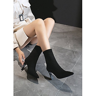 Giày boot len lửng ôm chân gót nhỏ TÔN DÁNG GBN5301