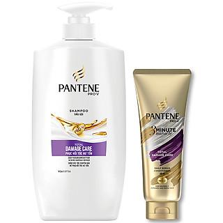 Dầu gội Pantene chăm sóc hư tổn 900ml tặng 1 Dầu Xả Pantene 3 PDK 150ml (loại ngẫu nhiên)