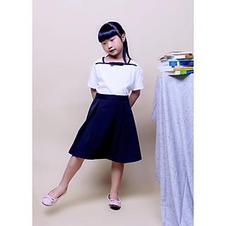 Đầm học sinh nữ cổ hải quân, đồng phục học sinh cấp 1, cấp 2, đồ đi học xinh cho bé gái
