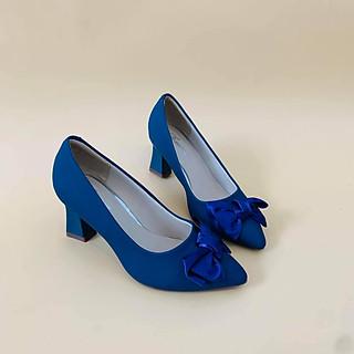 [ Shop giày somina ] Giày VIP cao 6cm nơ vải MT187