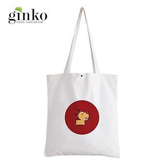 Túi Vải Tote GINKO Kiểu Basic Nút Bấm In Hình G172