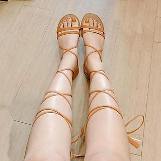 Giày Sandal Cột Dây Chiến Binh 2 Quai Ngang Bít Gót TAS24