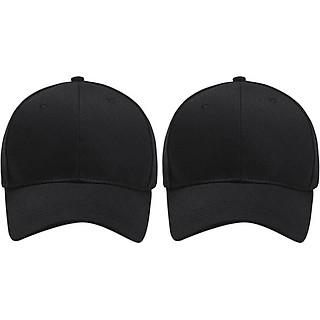 Bộ 2 Mũ Lưỡi Trai Đen Trơn (Nam) (Size L)