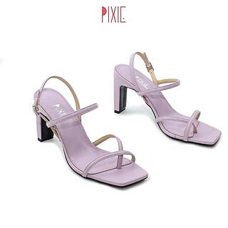 Giày Sandal Cao Gót Xỏ Ngón 7cm Pixie X560