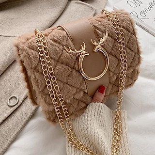 Túi xách nữ đeo chéo lông cừu sang trọng