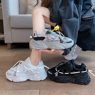 Giày Thể thao Sneaker nữ Dây phản quang Full Box cá tính, siêu êm chân, nhẹ nhàng