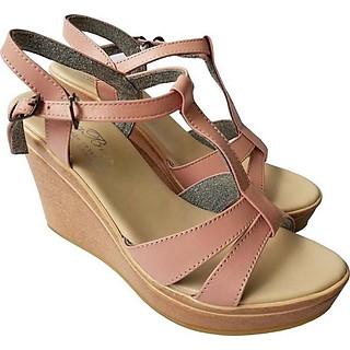 Giày Sandal Nữ Đế Xuồng BIGGBEN Da Bò Thật SDX12