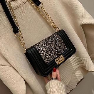 [Mẫu Mới] Túi đeo chéo nhũ phong cách Hàn Quốc - túi đeo chéo, túi đeo chéo nữ, túi xách nữ, túi xách nữ thời trang-vân nhũ cực đẹp, da pu chuẩn