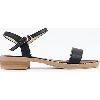 Giày sandal nữ quai ngang da thật cao 3cm Misho 1118 [FORM TO -- CHỌN XUỐNG 1 SIZE]