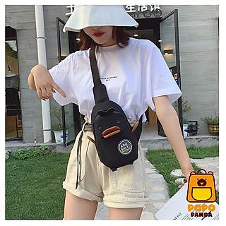 Túi đeo chéo thú mỏ vịt dày đáng yêu PopoPanda T004 chính hãng, túi đeo bao tử thời trang ulzzang Hàn Quốc basic dễ phối đồ, tiện lợi mọi hoàn cảnh