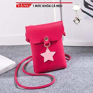 Túi đeo chéo mini đựng điện thoại đeo chéo thời trang dọc nắp hình ngôi sao MM247 Tặng móc khóa cá heo