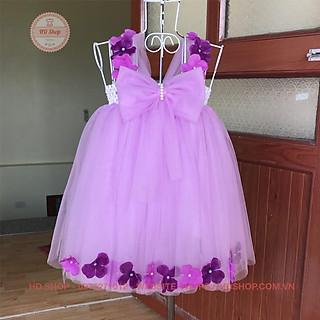 Váy công chúa ️️ Váy công chúa cho bé tím nhạt nơ tú cầu cho bé yêu