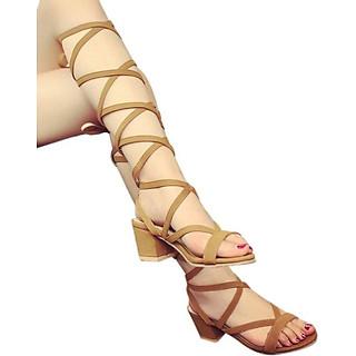 Giày sandal chiến binh 5 phân quấn dây S072