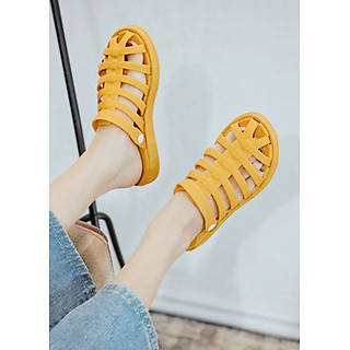 Dép sục sandal nữ chiến binh nhựa dẻo, phù hợp du lịch đi biển, thời trang trẻ, phong cách Hàn Quốc