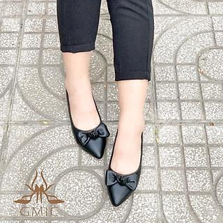 [ BIG SIZE ] Giày Bệt Nữ Thắt Nơ Siêu Xinh | Giày Búp Bê Nữ Êm Chân Đế Cao Su Cao Cấp NBB004