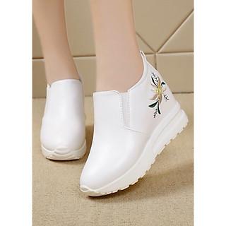 Giày slip on độn 7p da cao cấp siêu mềm SLO489202