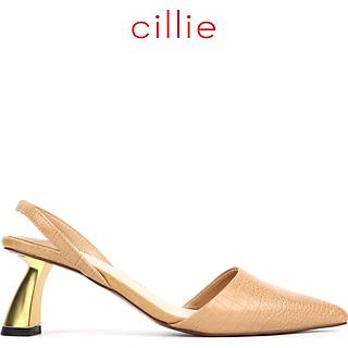 Giày cao gót nữ Cillie bít mũi hở hậu cao 6cm 1207