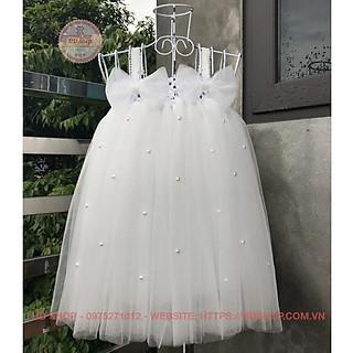 Váy công chúa ️️ Váy công chúa cho bé trắng 2 nơ đính đá