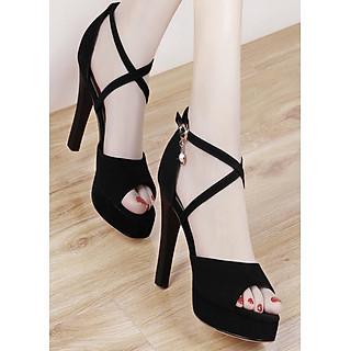Giày cao gót quai đan chéo nhỏ - CG51