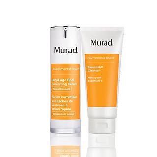 SET Serum giảm nám 7 ngày Murad Rapid Age Spot Correcting Serum + Sữa rửa mặt vitamin C làm sáng da Essential-C Cleanser