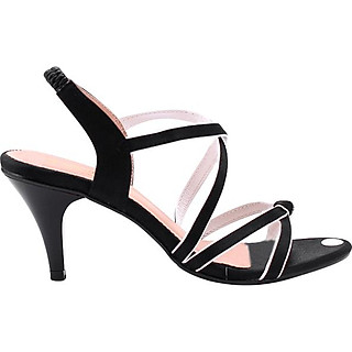 Giày Sandal Nữ Cao Gót Huy Hoàng HT7057 - Đen