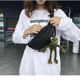 Túi bao tử nữ đeo chéo trước ngực, đeo hông cá tính chất liệu canvas cao cấp phong cách Hàn Quốc