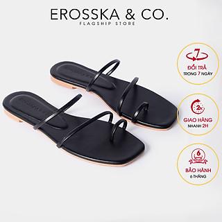 Dép nữ thời trang Erosska kiểu dáng xỏ ngón thiết kế phối dây trẻ trung DE033