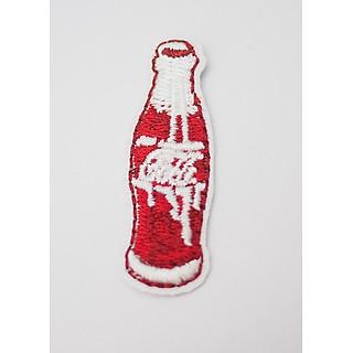 Chai Coca Cola đỏ -  Patch ủi sticker vải