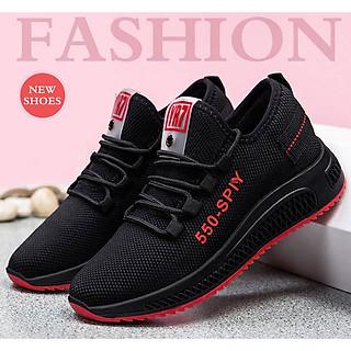 Giày thể thao nữ vải mềm êm chân, đế cao su hai màu, có răng cưa ma sát cao GN08