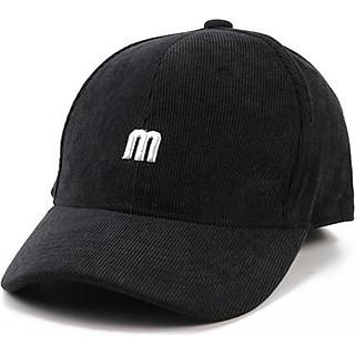 Mũ lưỡi trai chữ M vải nhung dày dặn co giãn M144 – Nón kết thời trang nam nữ