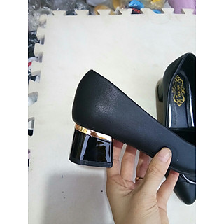 giày cao 4 phân nơ chữ