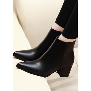 Boot cổ ngắn mũi nhọn ĐƠN GIẢN 6cm GBN38