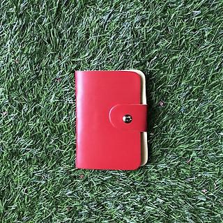Ví đựng thẻ ATM chất liệu da PU 24 ngăn cầm tay có nút bấm tiện lợi giao màu ngẫu nhiên - TMT Collection - MSP 001079