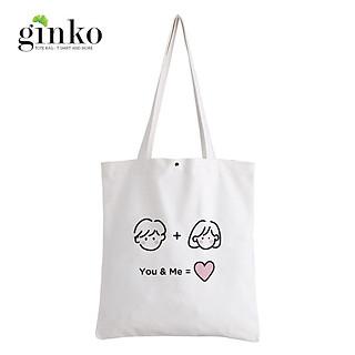 Túi Vải Tote GINKO Kiểu Basic Nút Bấm In Hình Cartoon G168