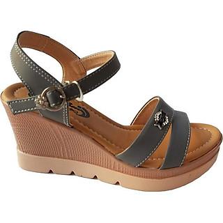 Giày Sandal Nữ Đế Xuồng BIGGBEN Da Bò Thật SDX15