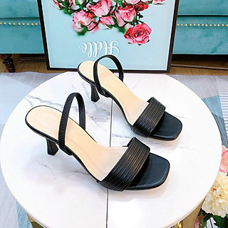 Giày sandal nữ quai mãnh, giày gót nhọn thời trang hỡ mũi cao 7p hàng chuẩn size 35-40 đủ màu