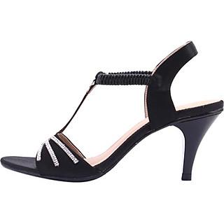 Giày Sandal Nữ Cao Gót Huy Hoàng HT7051 - Đen