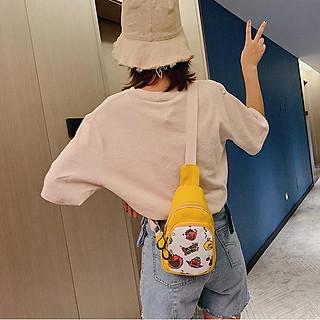 Túi đeo chéo balo đeo chéo nam nữ đa năng bao tử hoạt hình thời trang Hàn Quốc cao cấp