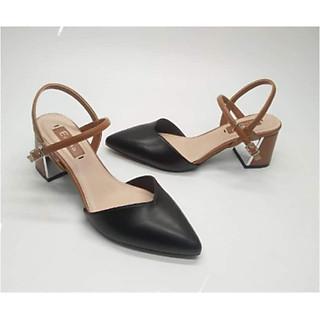 Dép nữ cao gót. sandals nữ cao cấp 13283 đen